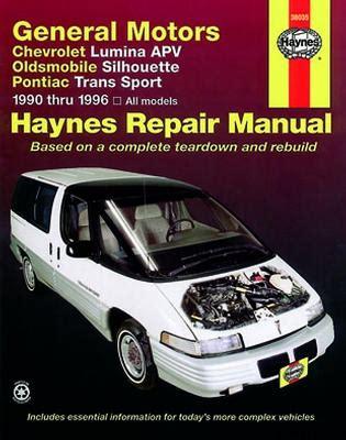small engine maintenance and repair 1996 pontiac trans sport windshield wipe control 1990 1996 chevrolet lumina apv silhouette trans sport haynes manual