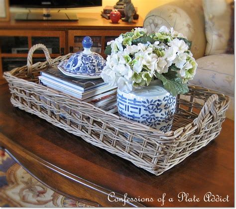 You might want to put your feet up on a lip edge or tray top on a coffee table is always a smart choice if you have a tendency to spill your coffee or have kids that will be using the coffee. CONFESSIONS OF A PLATE ADDICT: Pottery Barn Inspired Rustic Coffee Table Tray