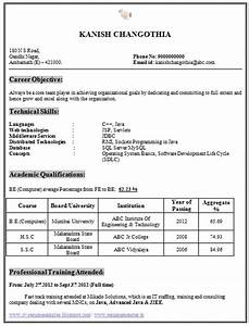 Cse Engineering Student Resume Format