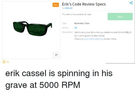 eriks code review specs  roblox  item