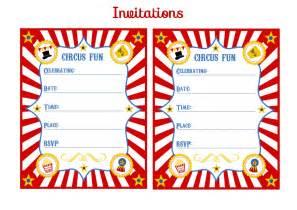 Free Printable Carnival Birthday Party Invitation Templates