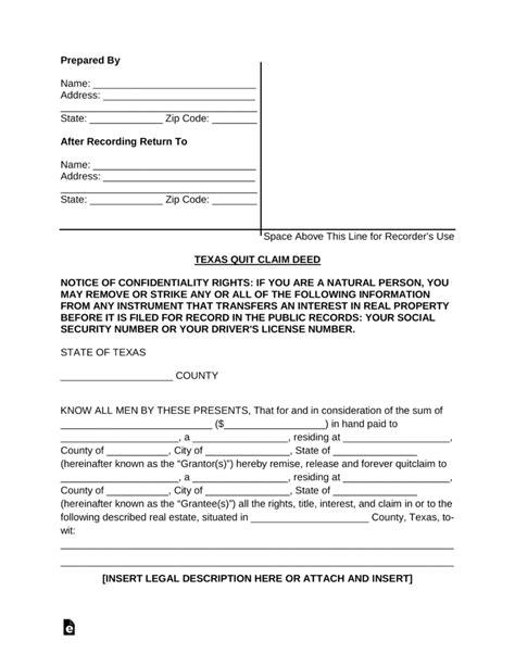 quit claim deed form washington dc mbm legal