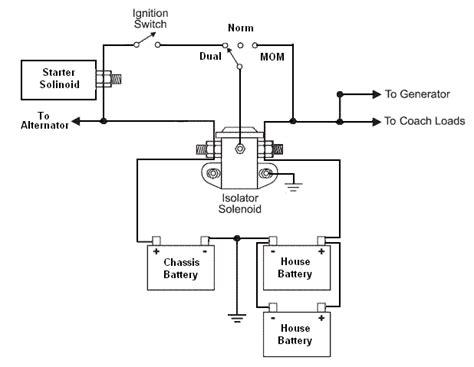 Battery Isolator Relay Broken Maintenance Diagram