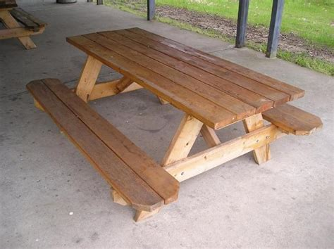 6 foot wood table recreational wood picnic table 6 foot seats 6 to 8 people