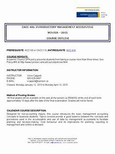 Course Outline Cacc 406 Winter 2015