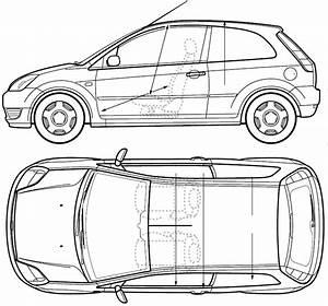 2005 Ford Fiesta 3-door Hatchback Blueprints Free