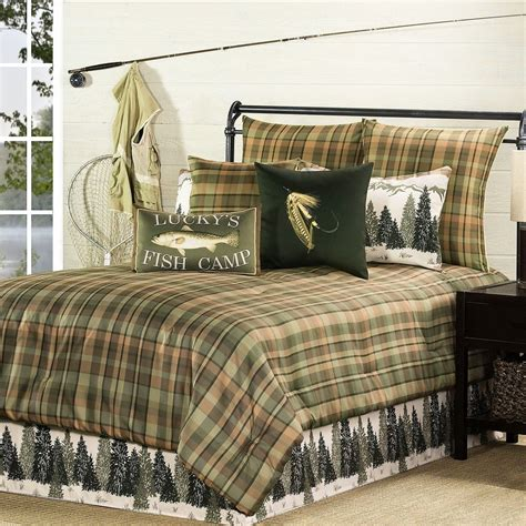 cabin bedding fishing cabin comforter sets bedding