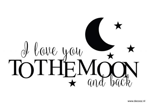 I You To The Moon And Back Kleurplaat by Sticker I You To The Moon And Back Www Decooz Nl
