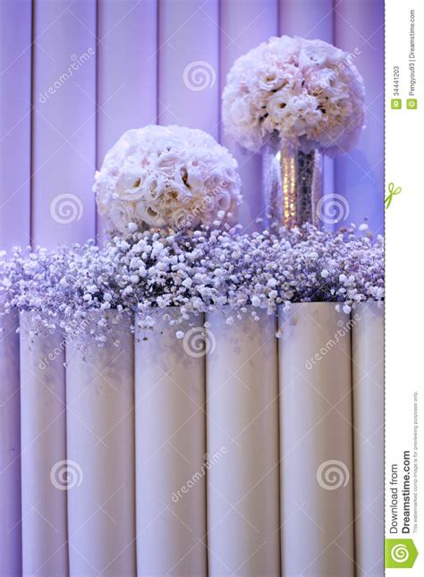stage decoration stock  image