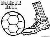 Ball Coloring Soccer sketch template