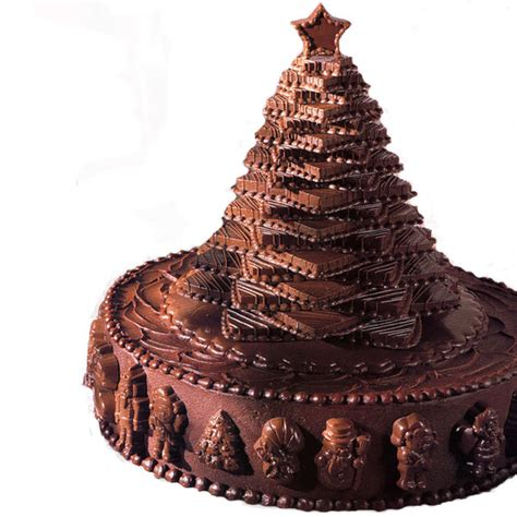 chocolate tree cake wilton - Christmas Chocolate Decorations