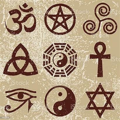 Symbols Ancient Religious Symbol Icon Vector Vectors