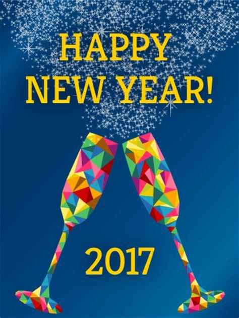 rainbow glass happy  year card birthday greeting