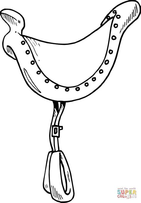 saddle coloring page  printable coloring pages