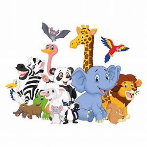Stickers Animaux De La Jungle : stickers animaux de la jungle color stickers ~ Mglfilm.com Idées de Décoration