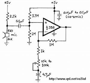 audio electronic circuits or electronic schematics With simple microphone preamplifier circuit can use between your microphone