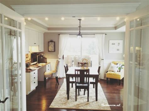 home office in dining room office craft room tour french doors offices and craft rooms