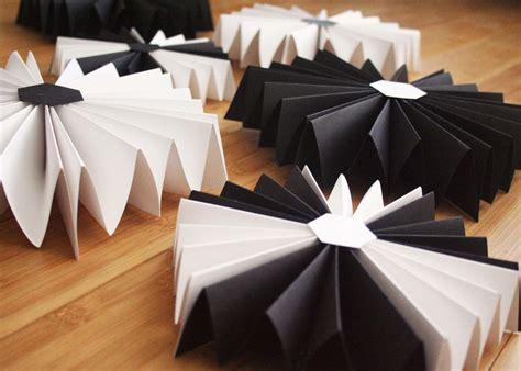 party hexagon paper fans