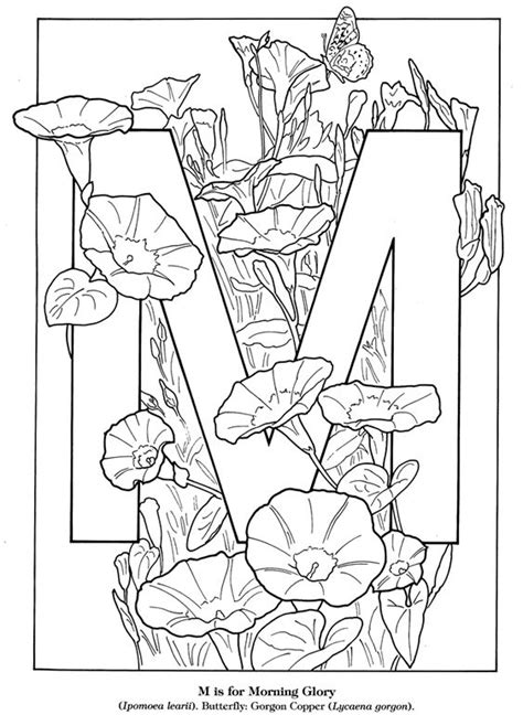 httpwwwdoverpublicationscomzbsamplessampleahtml coloring books flower alphabet