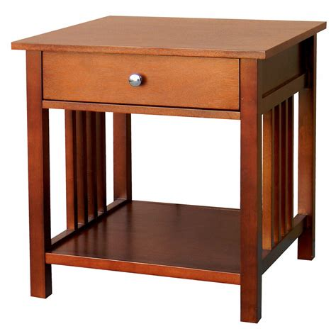 Lighted End Tables Living Room Furniture by Modern Chestnut Quot End Table Quot Living Room Accent Furniture