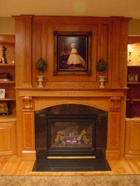 custom  fireplace mantel  built  shelving  bbg