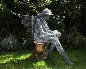 Fabriquer Un Treillage En Fil De Fer : art fabriquer des figurines pour le jardin derek kinzett id e g niale ~ Voncanada.com Idées de Décoration