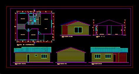cabin  vacation  floor plans  dwg design elevation  autocad designs cad