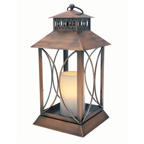 decorative lanterns indoor neuporte flameless candle lantern with timer indoor outdoor