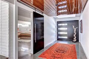 modern barn doors entry contemporary with barn door With modern barn doors for a unique home
