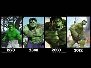 Hulk transformation Movies -1978-2003-2008-2012- [hulk ...