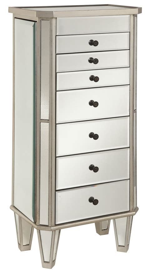 powell jewelry armoire powell jewelry armoire silver painted jewelry armoire with