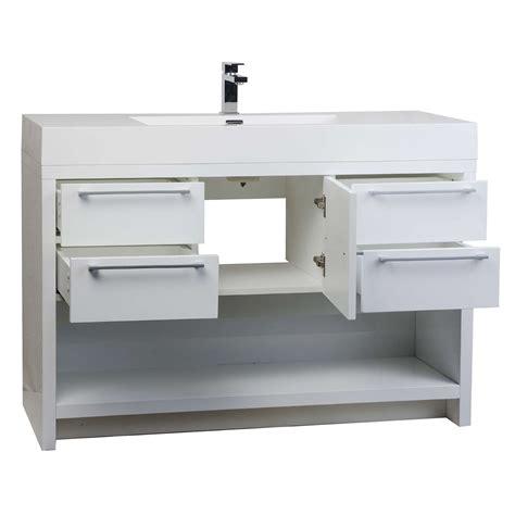 buy lodi 47 inch modern bathroom vanity set glossy white