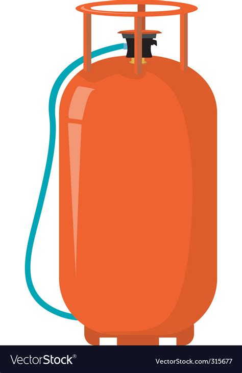 Gas Clipart Gas Cylinder Royalty Free Vector Image Vectorstock