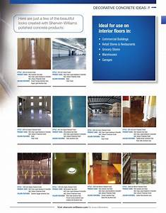 H C Acetone Dye Color Chart Concrete Catalog 2015 By Sherwin Williams Issuu