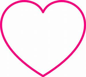Pink Heart Outline Clipart | Clipart Panda - Free Clipart ...