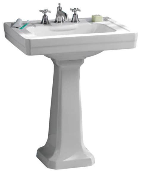 Lutezia 27inch Pedestal Lavatory Sink By Porcher