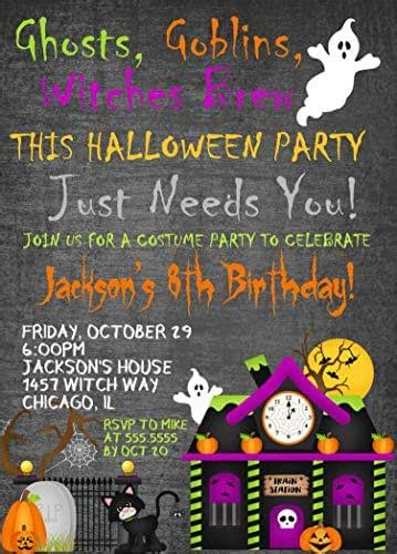 amazoncom kids halloween birthday party invitations