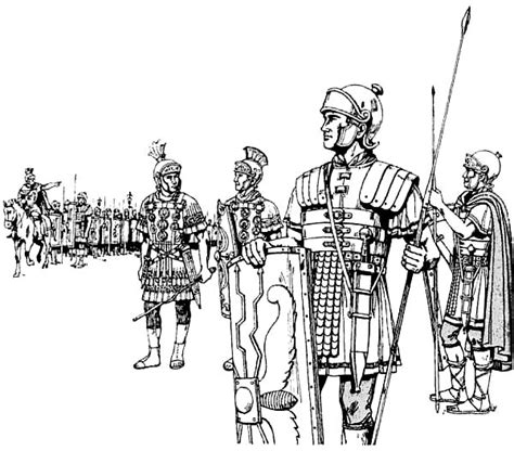 Battlefield Kleurplaat by An Ancient Rome Army In The Battlefield Coloring Page Netart