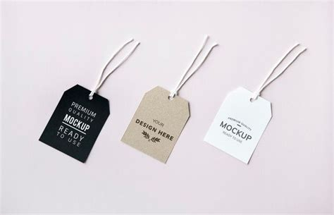 This includes branding mockups, phones, packages, brochures and flyers. Three fashion label tag mockups | Free Psd #Freepik # ...