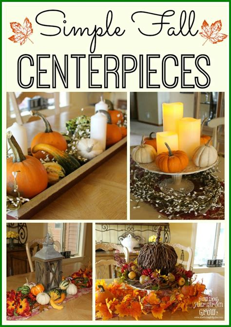 fall table decorations easy easy fall centerpiece crafts