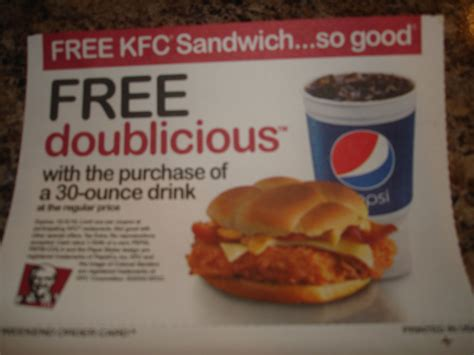 07002 Digitsu Coupon by Check Your Usa Weekend For A Free Kfc Doublicious Sandwich