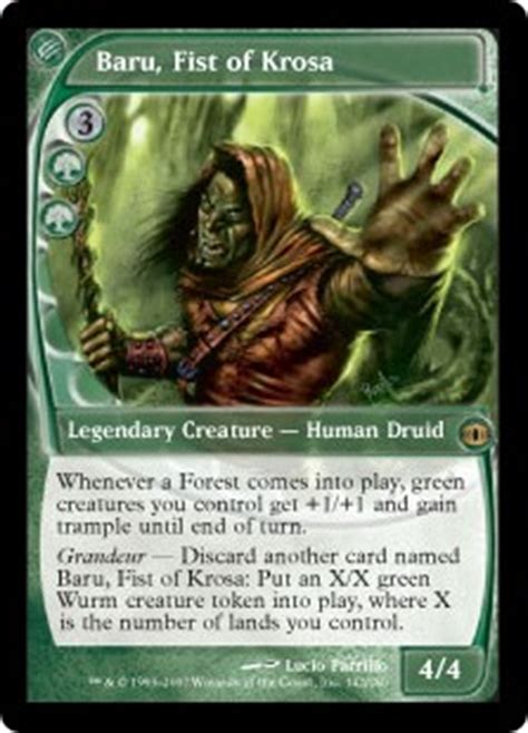 Best Prossh Commander Deck by Baru Of Krosa Future Sight Gatherer Magic The