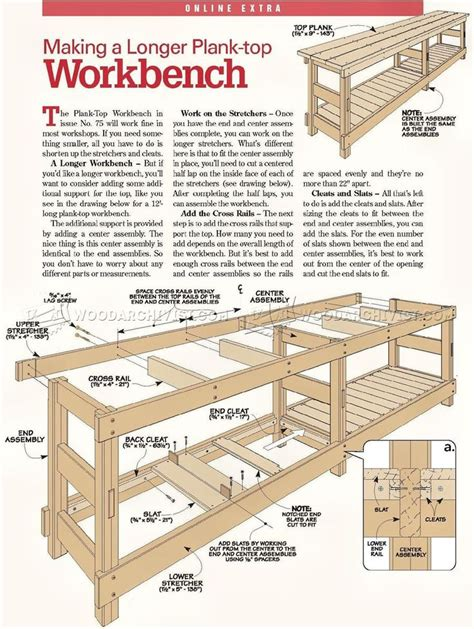 Workbench Stool Plans 2450 Heavy Duty Workbench Plans Workshop Solutions
