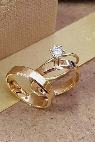 simple gold wedding ring 27 simple engagement rings for who love classic style