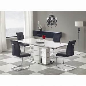 Table Blanc Laqué Extensible : table manger design extensible blanc laqu dora atout mobilier ~ Teatrodelosmanantiales.com Idées de Décoration
