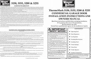 Wayne Dalton 5150 5155 5200 And 5255 Users Manual 295276r6 P65