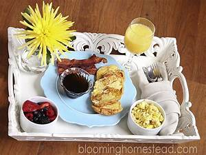 Breakfast in bed- Mother's Day - Blooming Homestead