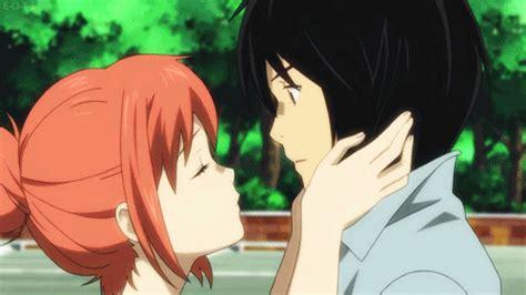 Anime Kiss Gif Cute Cute Anime Gif Find Share On Giphy
