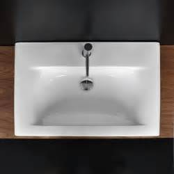 lacava 9007 caletta porcelain vanity top with an overflow