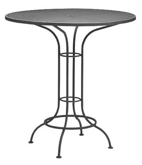wrought iron pub table woodard commercial grade wrought iron bar height dining